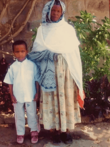Ebrahim with his grandmother